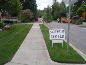 Widening of Sidewalk in City of Kirkland