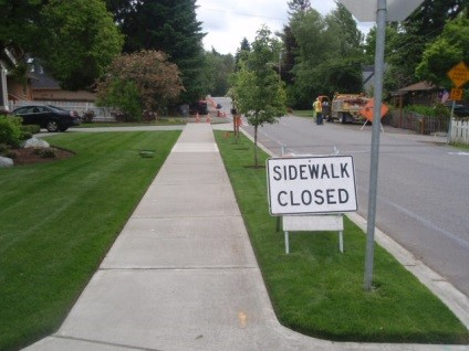 Widening of Sidewalk in City of Kirkland